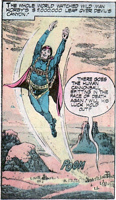 Weird Mystery Tales #17, human cannonball