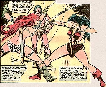 Conan the Barbarian, Red Sonja in a swordfight vs Belit