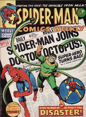 Marvel UK, Spider-Man Comics Weekly #50, Iron Man's first appearance and origin