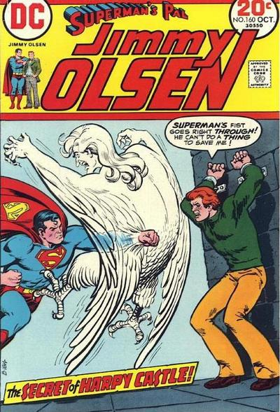 Jimmy Olsen #160 harpies and Superman