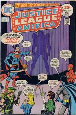Justice League of America #117, The Equalizer, Hawkman returns