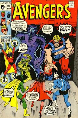Avengers #91, The Kree/Skrull War, Ronan, the Sentry, Captain Marvel