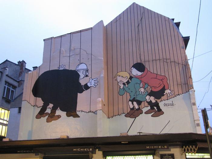 Mural Hergé - Quick et Flupke