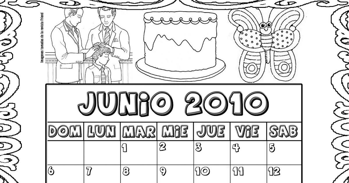 Holamormon Calendario Para Colorear Junio 2010 Para La Primaria