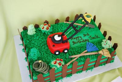Dog Cake On Grass Ideas