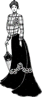 Falda usada por las mujeres adineradas de la época.