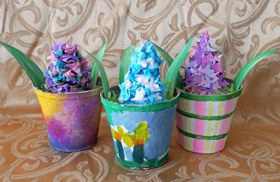 Paper Hyacinths 3 Ways