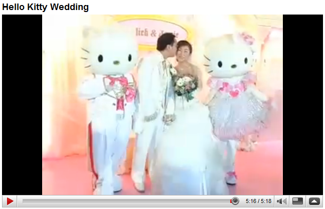 Hello Kitty Wedding Gift: Blue Gal: There Is Video Of This Hello Kitty Wedding