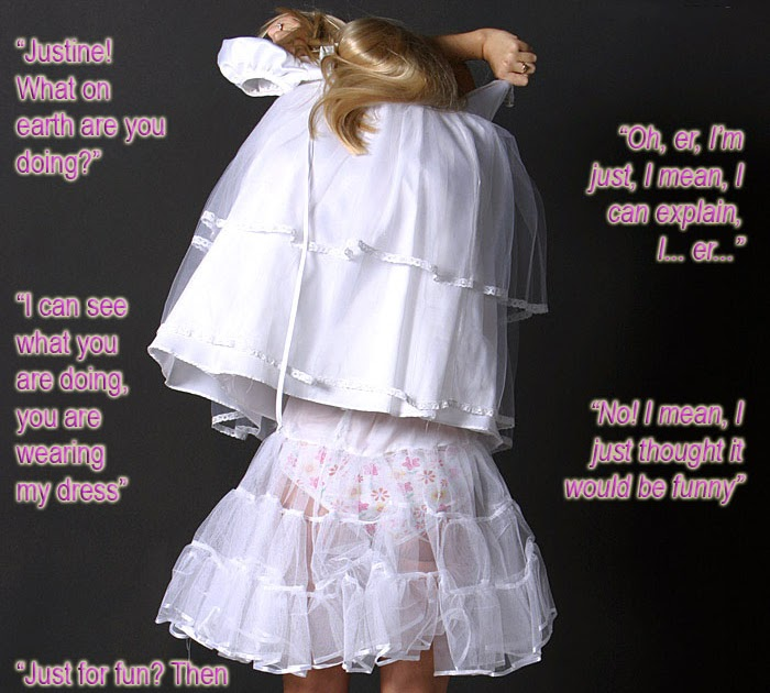 Titillating TG Captions: A New Groom Becomes A Feminized
