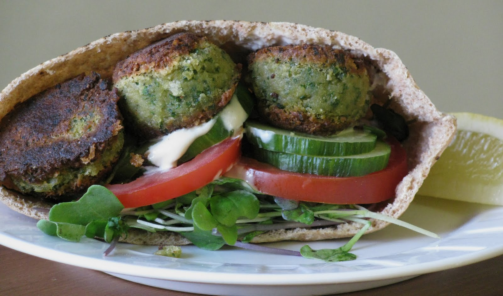 Little House Of Veggies Falafel Pitas With Tahini Sauce