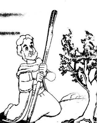 Print Desenhos Desenho Biblico De Moises E A Sarca Ardente