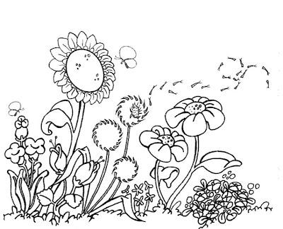 Desenho De Flores Para Pintar Desenho De Margaridas E Girassol