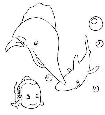 Print Desenhos Desenho De Animais Marinhos Para Colorir Desenho