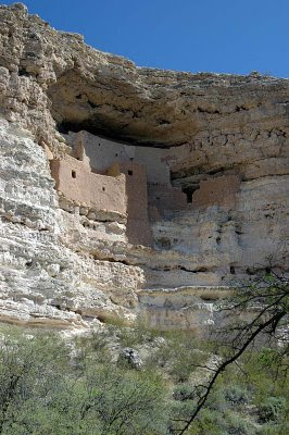 an overall view of the cliff dwelling