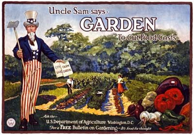 Uncle Sam needs to get busy and help us with the weeding!