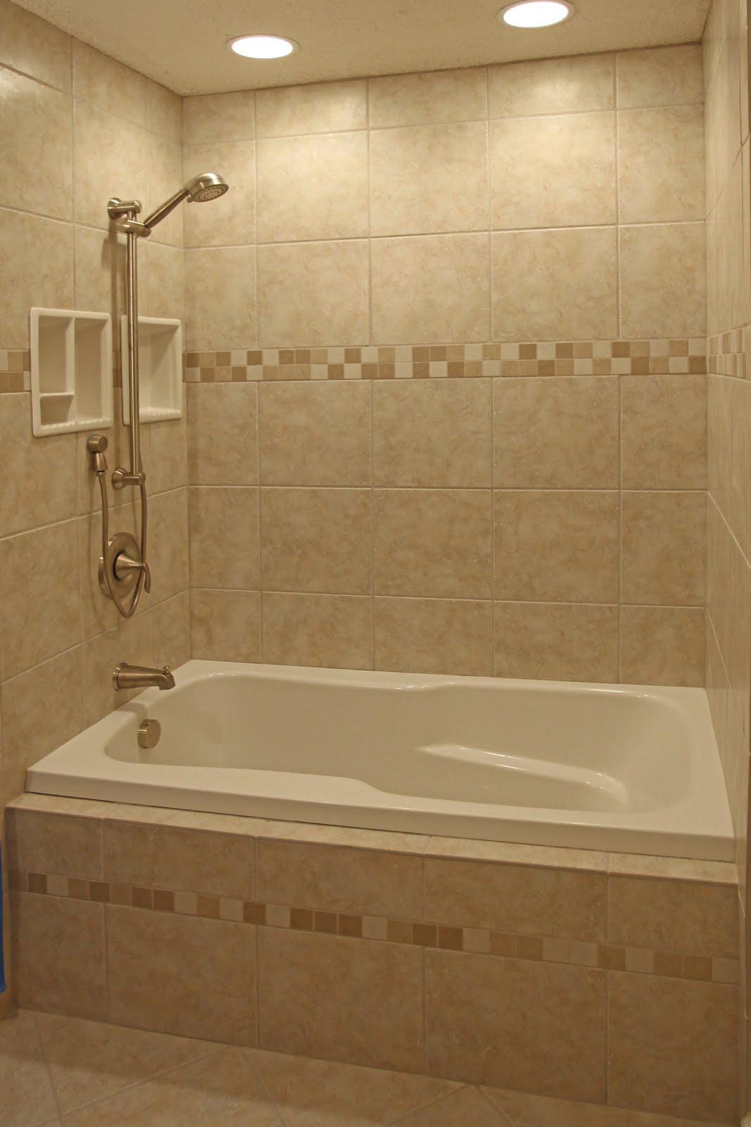 Bathroom remodeling design ideas tile shower niches - Small bathroom tiles design ...