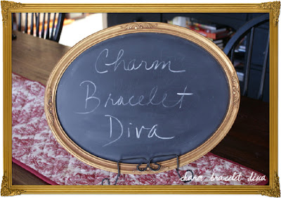 thrifted frame upcycle chalkboard
