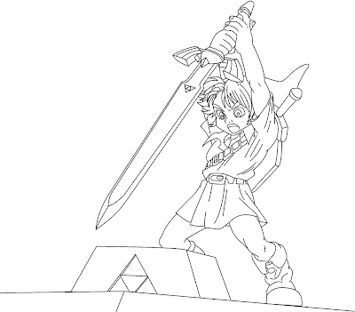 Tattoos Art Coloring Pages Zelda