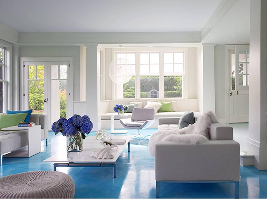 Home Design: Blue Living Room