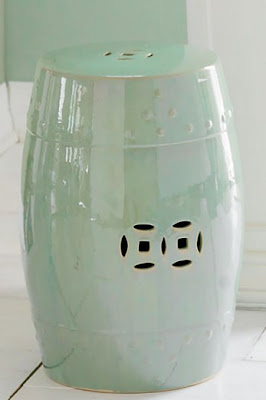 Pale green Chinese garden stool from Wisteria