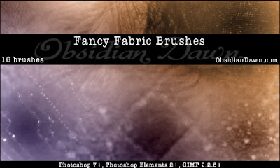 Fancy Fabric Photoshop Brushes
