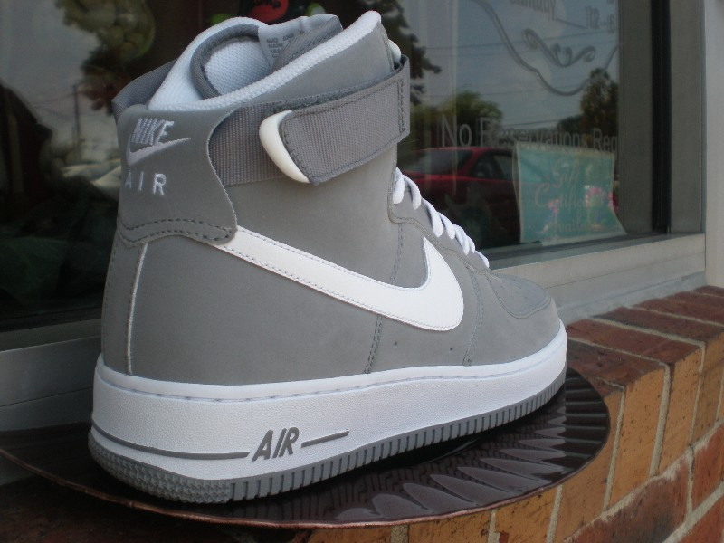 various colors 8f5df 71d86 ... Light Charcoal and White - Nike Air Force 1 High .