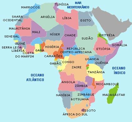 Geografia no cotidiano 9º ano MAPA POLÍTICO DA ÁFRICA