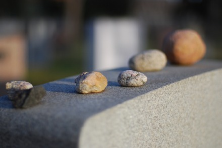 The Daily Undertaker: Yarn Bombed Headstone, Pebbles, and