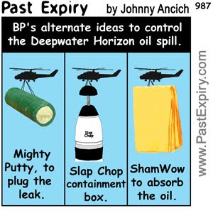 [CARTOON] Oil Spill Solutions.  images, pictures, advertising, cartoon, environment, pollution, shopping,