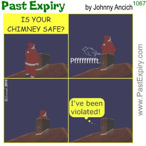 [CARTOON] Chimney Santa. cartoon, christmas, fart, Santa, crime,<br />