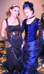 Marianne Mancusi and Leanna Renee Hieber at DragonCon 2009. (Copyrighted by Marianne Mancusi.)