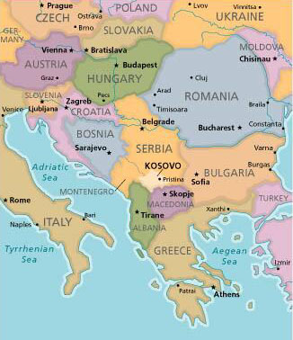 Kosovo Map In World. A Look at Kosovo and Albania  read my mind