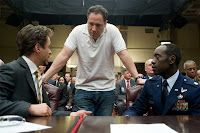 Jon Favreau talking to Don Cheadle and Downey on set of Ironman 2