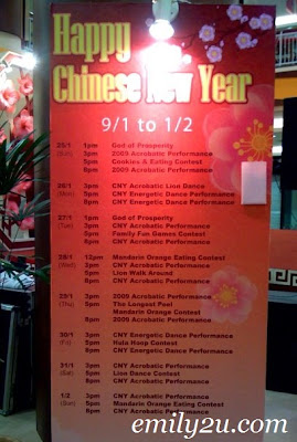 Kinta City Ipoh Chinese New Year Programme