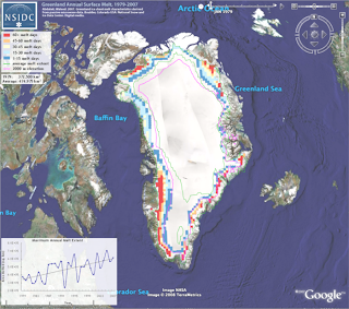 Greenland ice sheet shrinking more rapidly