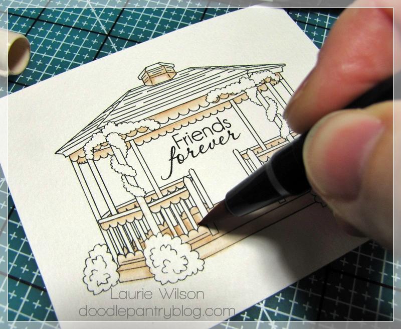 Doodle Pantry Digital Doodles Blog Cozy Gazebo Coloring
