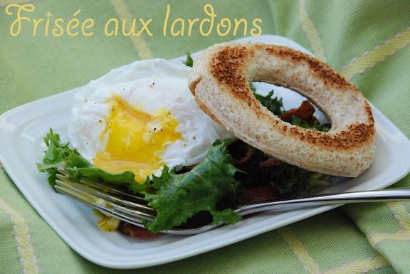 whisk a food blog fris e aux lardons warm chicory with bacon. Black Bedroom Furniture Sets. Home Design Ideas