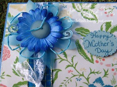 mother's day card cricut mothers blue flower vellum twisted paper flowers cards