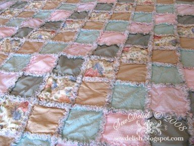 Make Rag Quilt Pattern Instructions SewDelish Shabby Chic
