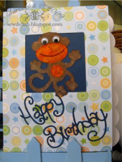 New Arrival Cricut Expression Cartridge Make Monkey Birthday Card Flocking Cuttlebug Sizzix Happy Birthday #3