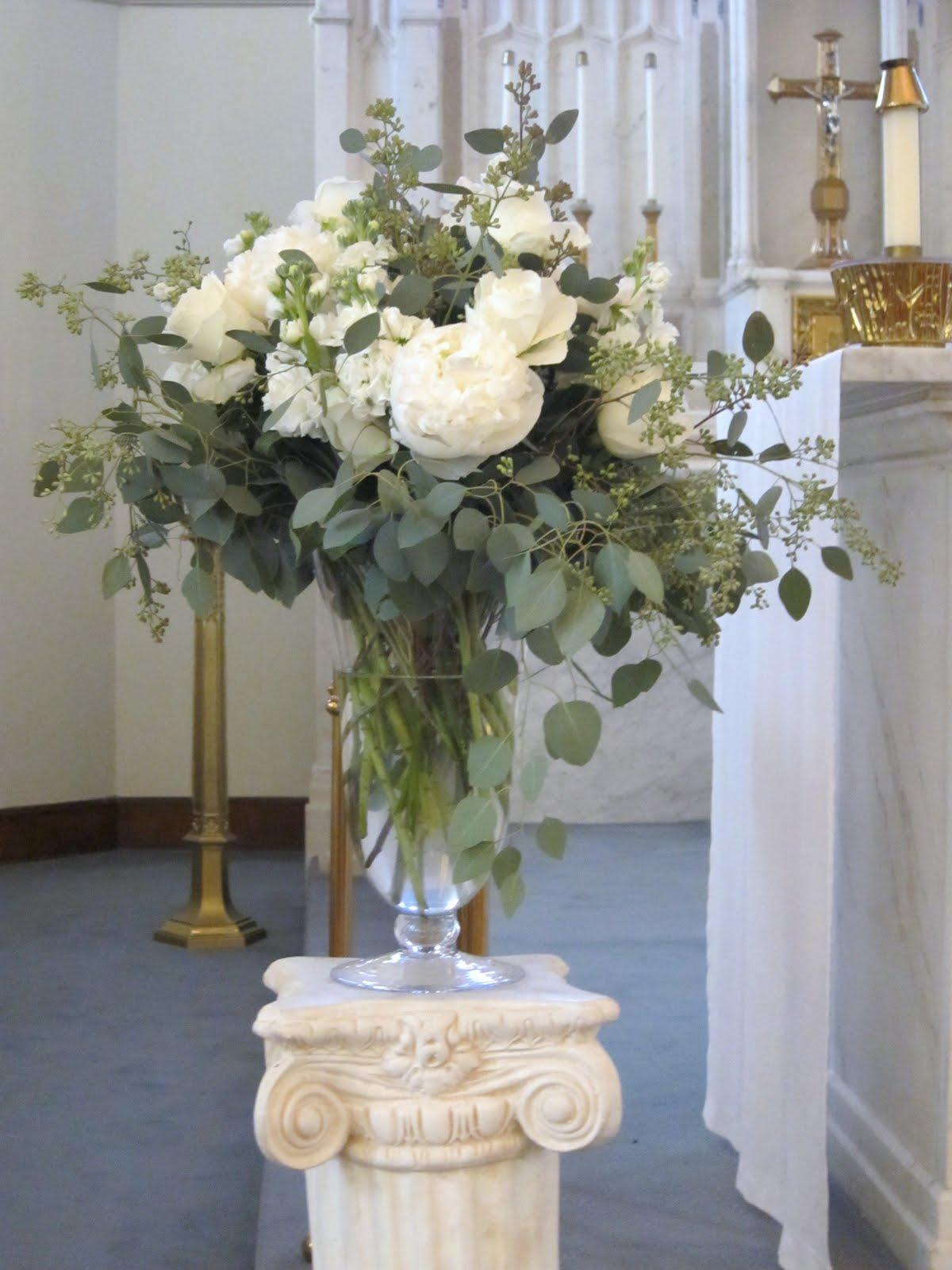 Blush Floral Design Winter White Wedding