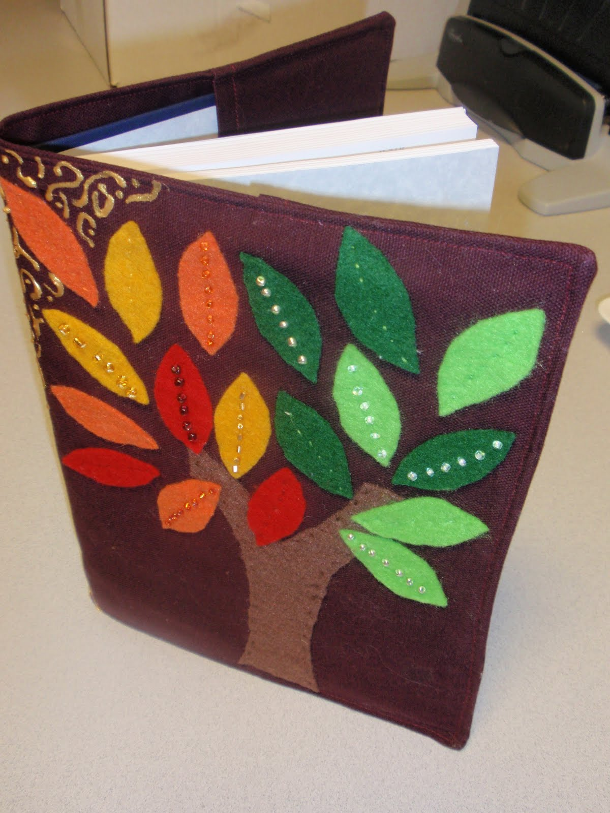 Diary of a Crafty Lady: Easy Fabric Book Cover