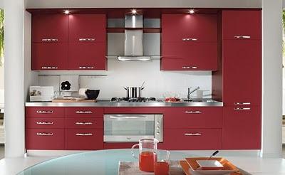 Decore Projetos Da Cozinha Em Vermelho