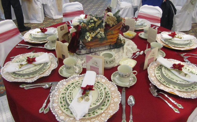 Christmas Tea Table Decorating Ideas - Elitflat