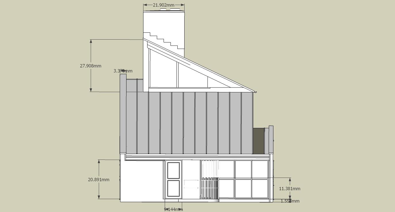 4 Vanna Venturi House Plan Section Elevation on fisher house elevation, vanna venturi interior, kaufmann house elevation, eames house elevation, vanna venturi sections dimensions, tugendhat house elevation,
