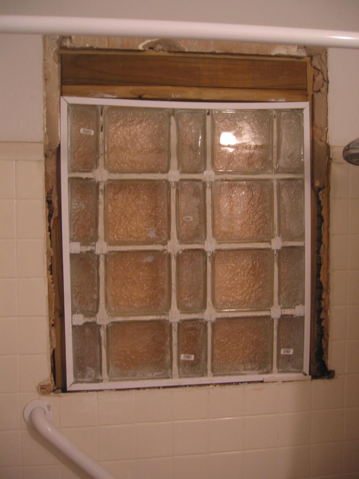 Dammanworks Carpentry Glass Block Bathroom Window