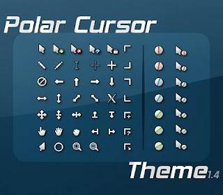 Polar Cursors Optimized 21 Cusor pack Untuk Windows Xp dan Windows 7