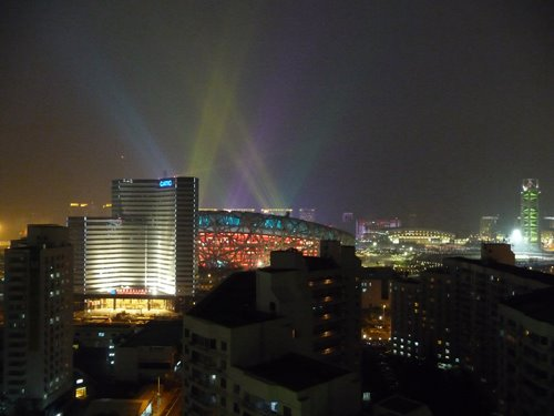 Beijing Olympic lights and video