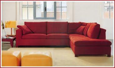 Divano Rosso E Grigio : Divano grigio con cuscini rossi piedi salone grigio rosso con