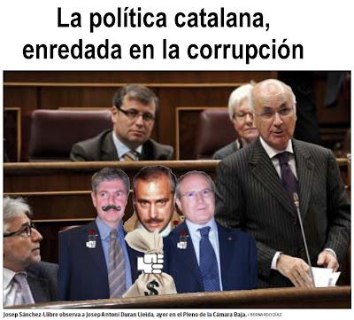 La política catalana, enredada en la corrupción